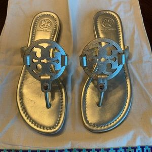Lightly used gold Tory Burch Miller Sandals